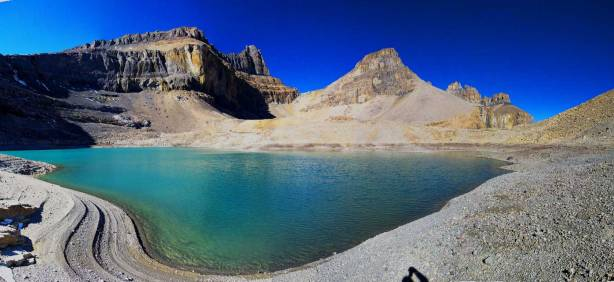 Panorama of the lower Whitegoat Lake