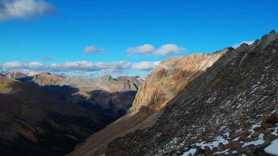 Sunlight shone on part of Marble Mountain