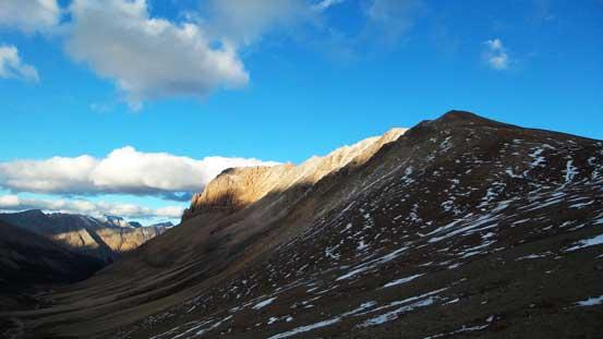 The last sunbeam shone on Marble Mountain