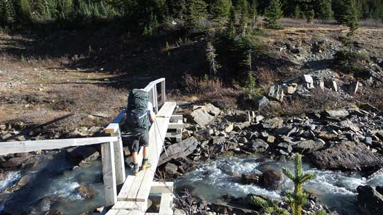 Another bridge - this one brought us to the other side of Brazeau River