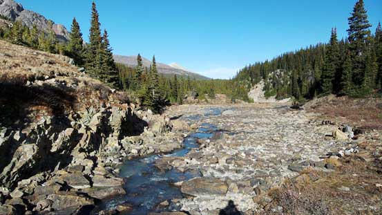 The much-smaller Brazeau River