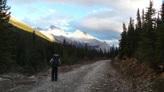 The final slog along old Jasper-Banff road