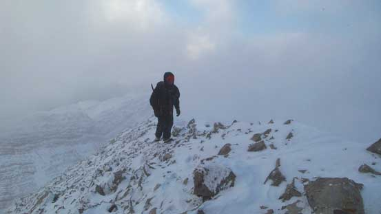 Ben arriving at the summit.