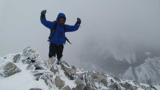 Me on the summit of Sirdar Mountain