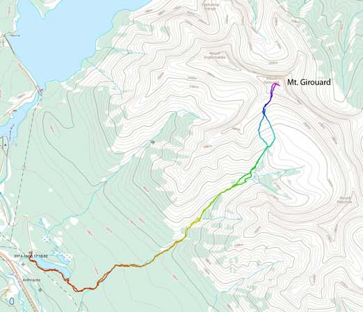 Mt. Girouard scramble route