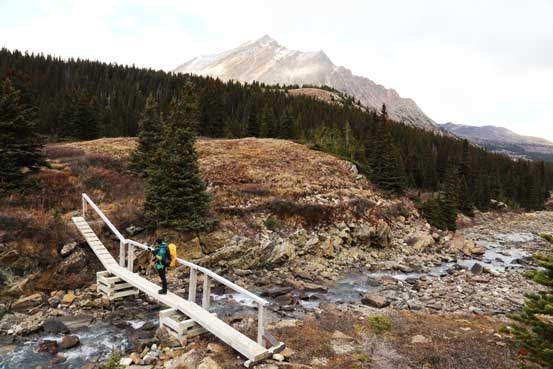 All of the creek crossings were reinforced by new bridges. Photo by Ben