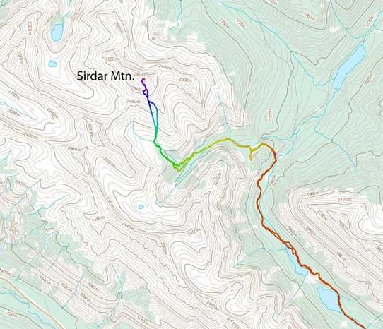 Sirdar Mountain scramble route