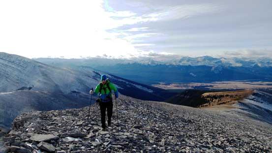 Vern ascending easy terrain
