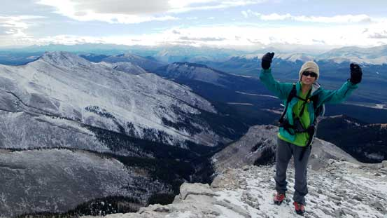"Me on the summit of ""Rum Ridge Peak"""
