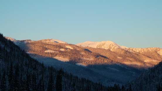 Morning colour shone on Mt. Milton