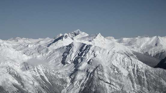 """""""Jag Peak"""" in Selwyn Range. Most of the names in this area are from bivouac.com"""