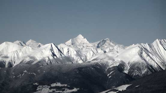 Mt. Longstaff, Whitehorn Mountain and Mt. Phillips