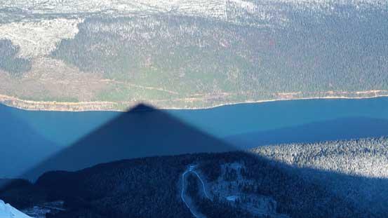 Shadow of Stargazer Peak on Kinbasket Lake