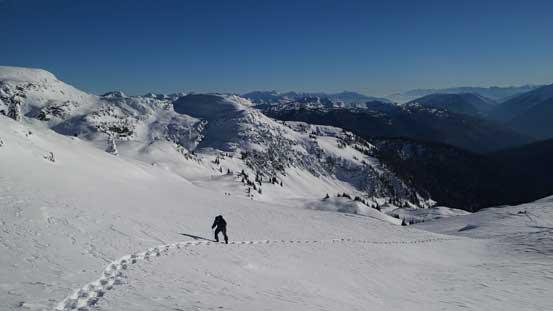 Eric ascending the typical slope on Keystone Peak