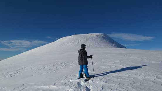 Ben and the true summit of Keystone Peak