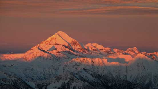 Mt. Sir Sandford on evening glow