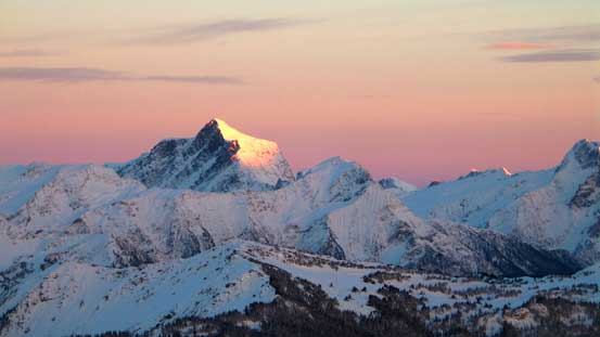 Mt. Holway on evening glow