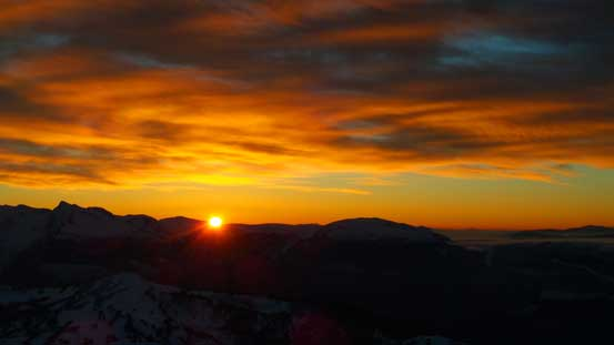 Sunset over the Monashees