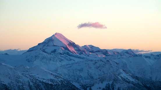 Mt. Sir Sandford on alpenglow
