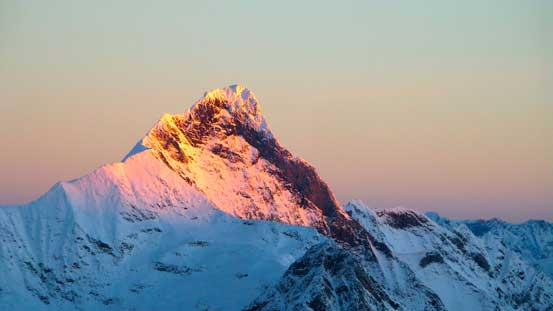 Downie Peak on glow