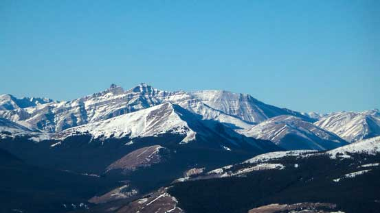 A striking but unnamed peak