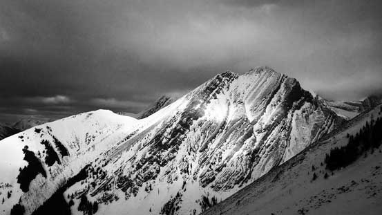 An unnamed peak to the north.