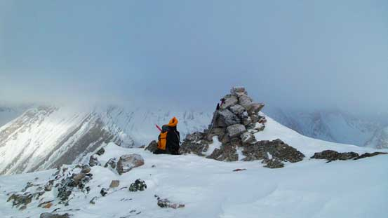 The big summit cairn