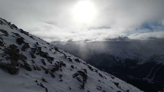 Sunbeam shone through clouds