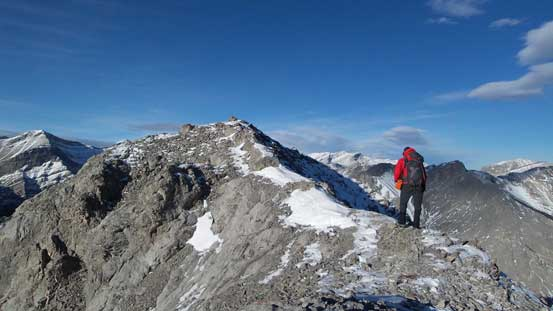 The last few steps to the summit