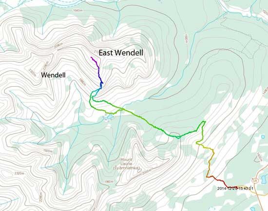 East Wendell standard scramble route