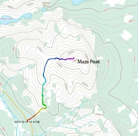 Maze Peak standard scramble route