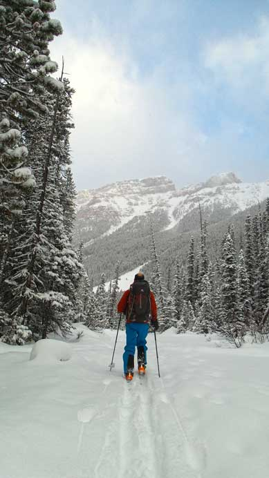 Ben skiing in the Chickadee Valley