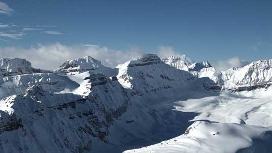 Chimney Peak left of center - rarely ascended.