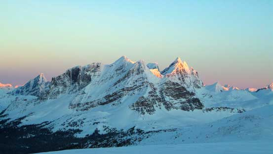 The huge bulk of Salient Mountain