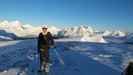 Me on the summit of the south peak.