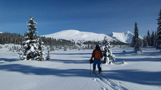 """Almost at the central Miette Pass. The """"north peak"""" in front"""