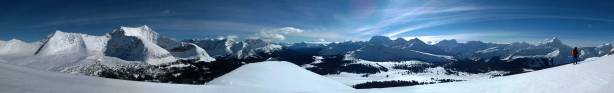"""Panorama from the summit of the """"north peak"""". Click to view large size."""