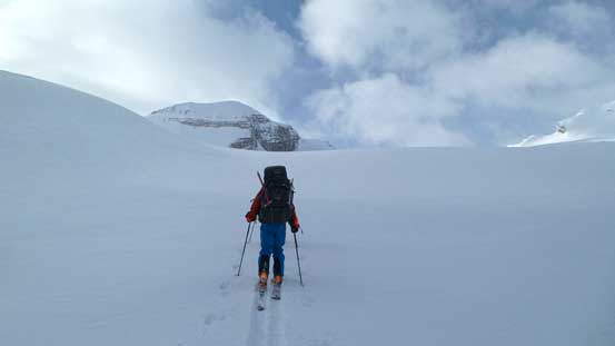 Ascending onto the Wapta Icefield