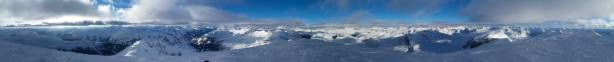 Summit Panorama from Mt. Baker. Click to view large size.