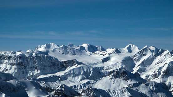 Peaks on the Freshfield Icefield