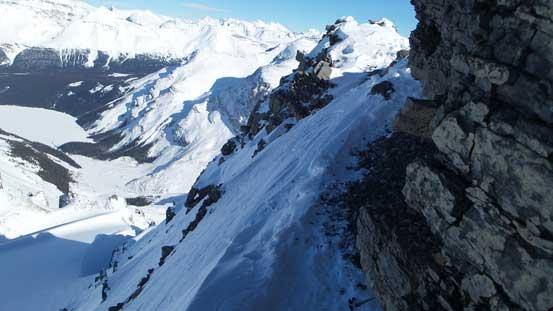 The key traversing ledge