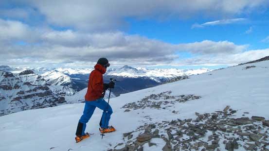 Ben ascending Haddo Peak