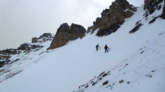 Down the dicey traverse