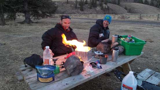 Camping was fun.