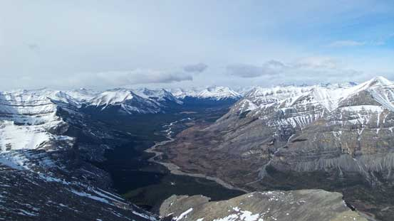Red Deer River valley
