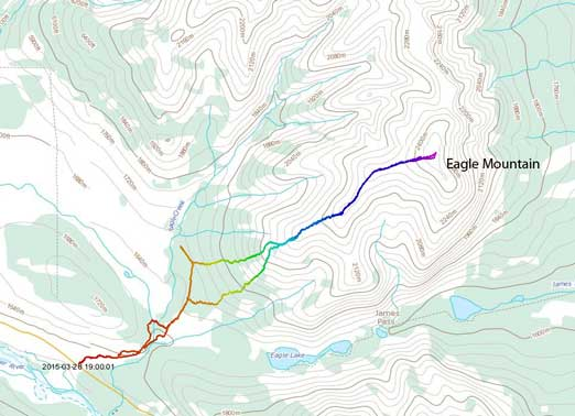 Eagle Mountain scramble route