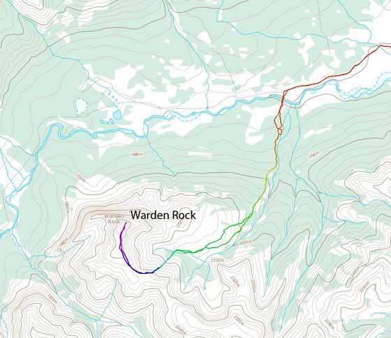 Warden Rock scramble route