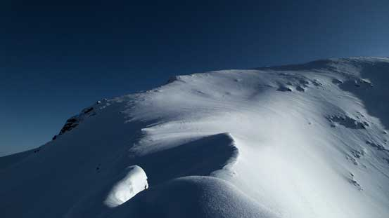 The final slope to the summit.