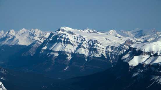 Mt. Wilson the massive bulk. It's a grand day as a snowshoe ascent..