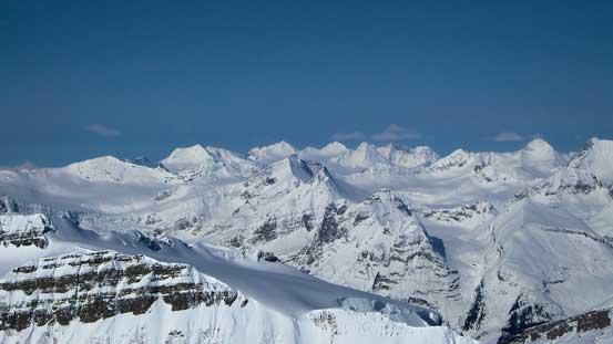 Peaks on the Freshfield Icefield.